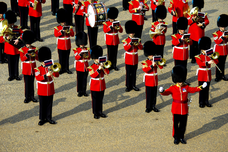 The Band of the Irish Guards. Foto bz-mg